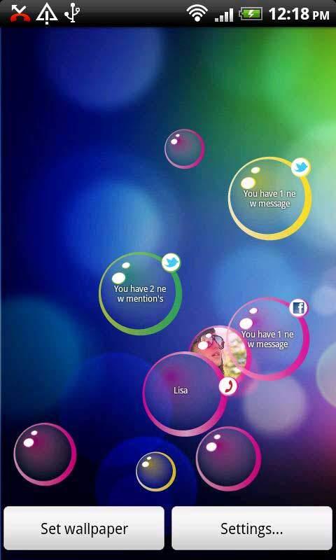 App notifiche sms messaggi chiamate smartphone android for Sfondi cellulare samsung