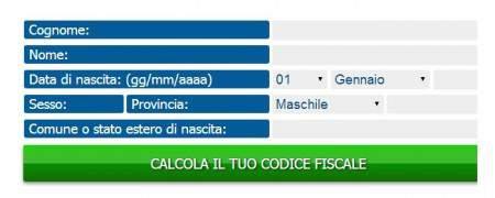 calcolocodicefiscaleonline