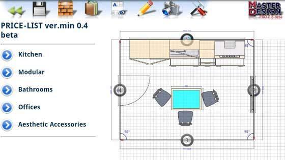 master design programma per arredare casa cucina