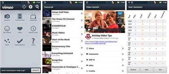 Vimeo per Android arriva sul Market