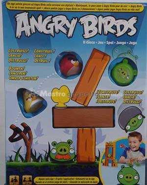 Angry birds gioco da tavolo mattel fionda vera uccellini e maialini - Angry birds gioco da tavolo istruzioni ...