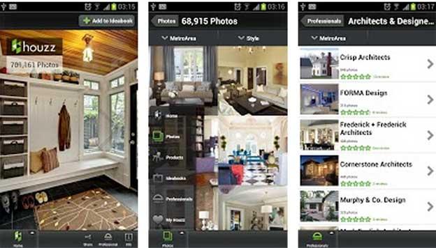 Houzz android idee e consigli per arredare casa fa da te for App per arredare casa gratis