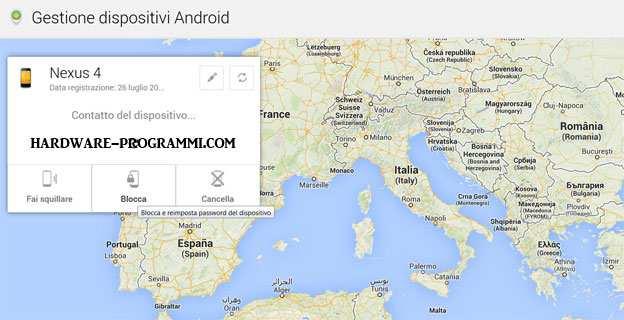 Come bloccare lo smartphone con password da remoto con Android Device