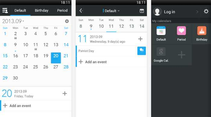 Notifiche Calendario Android.Zdcal Calendar Calendario Agenda Gratis Per Smartphone E