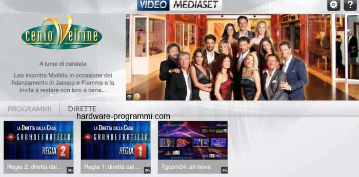 video mediaset da ipad
