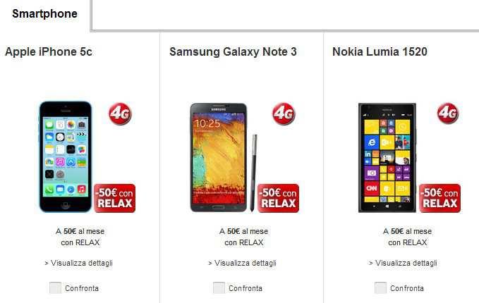 Vodafone offerte con smartphone incluso for Amazon offerte cellulari