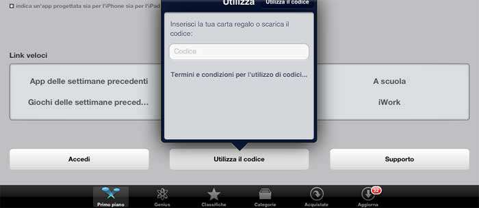 Come usare codici redeem carte regalo installare app for Codici regalo amazon gratis