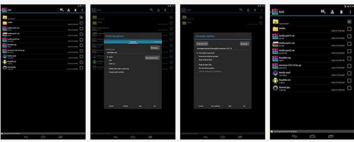 WinRAR Android: app per creare aprire archivi RAR ZIP TAR GZ BZ2 XZ