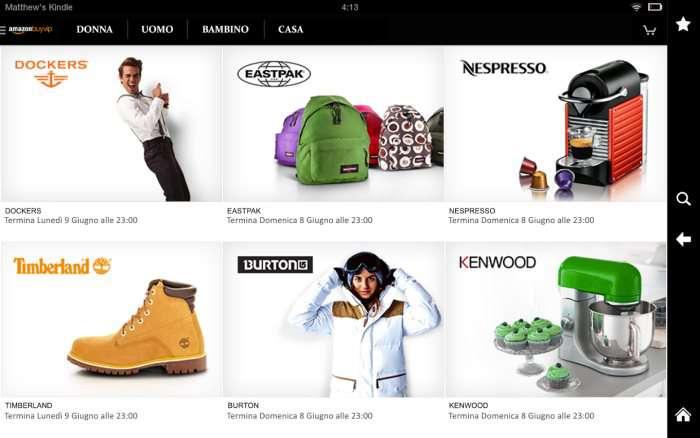 Amazon buyvip sconti e offerte abbigliamento arredamento for Amazon offerte abbigliamento