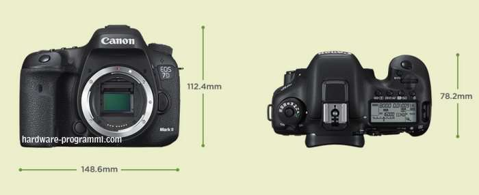 Canon EOS 7D Mark II dimensioni