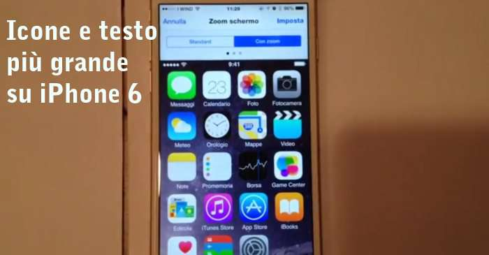 Come Ingrandire Dimensioni Icone Testo Font Iphone 6 Ios 8