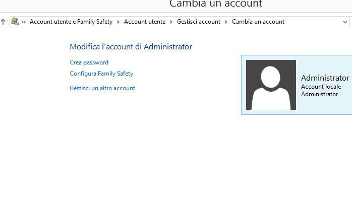 cambiare password windows 4