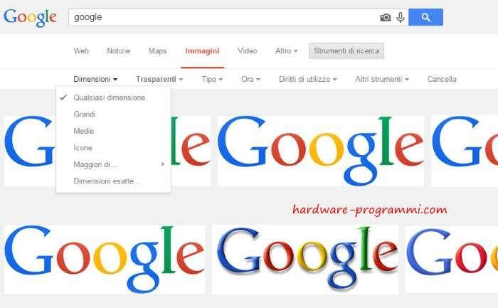 Come cercare immagini su google grandi senza copyright for Ricerca per immagini google