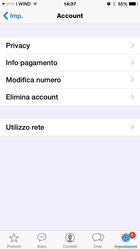 cambiare numero whatsapp 2