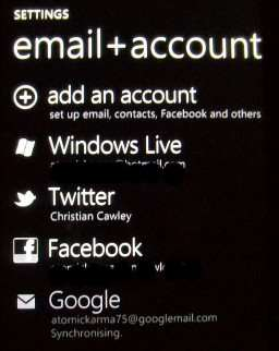 impostazioni account windows