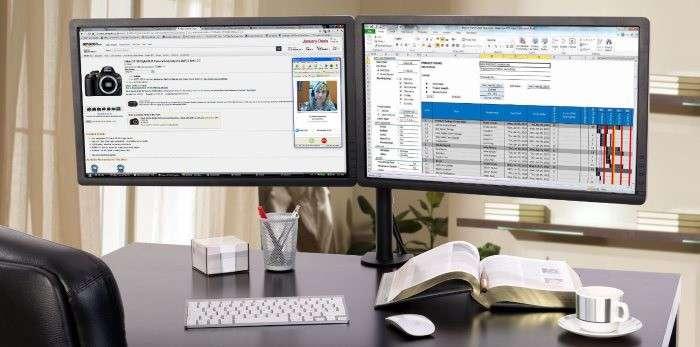 Supporto monitor pc da tavolo scrivania per collegare pi for Mobile da scrivania