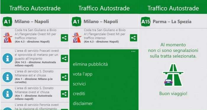 Traffico Autostrade Italia in tempo reale arriva su Windows Phone Lumia