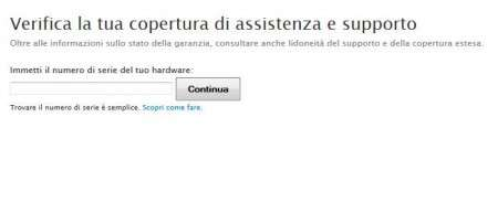 assistenza e supporto apple