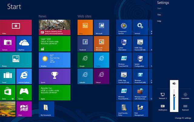 volume windows 8 10