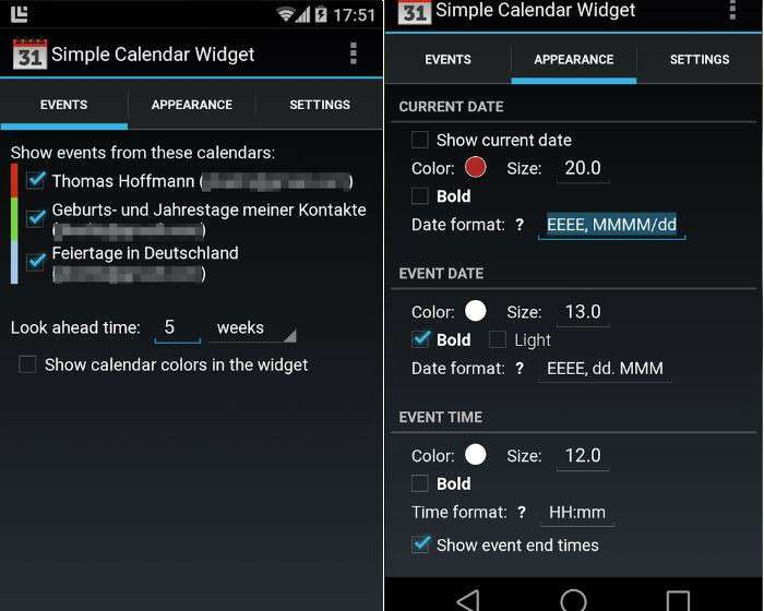 Widget Calendario Samsung.Simple Calendar Widget Calendario Per Android Download Gratis