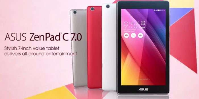Asus ZenPad C 7.0 Z170MG: nuovo tablet da 7 pollici con Android 5.0 Lollipop