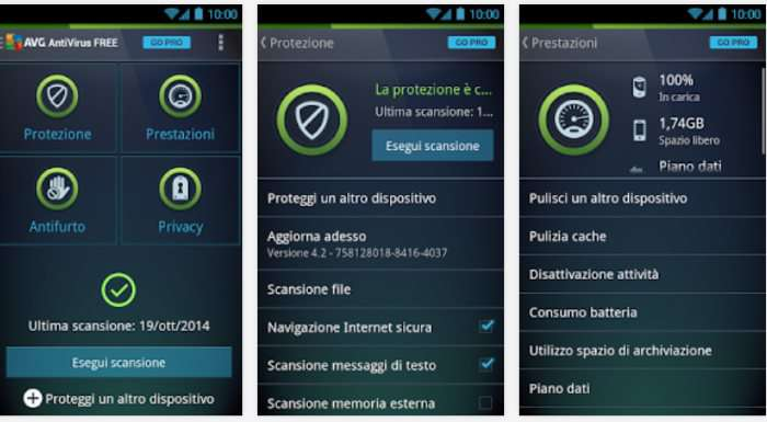 scansione virus android