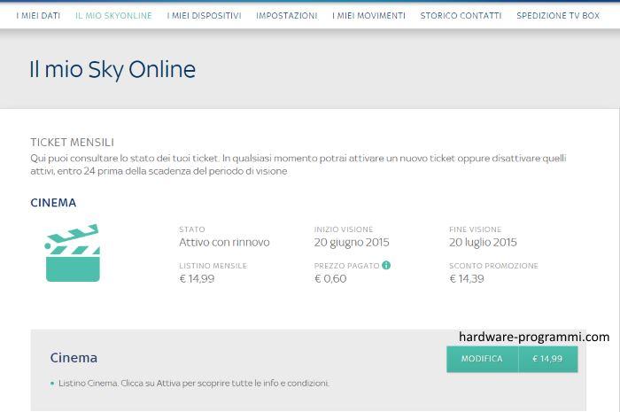 Attractive Rinnovo Automatico Sky Online