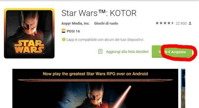 come acquistare app android