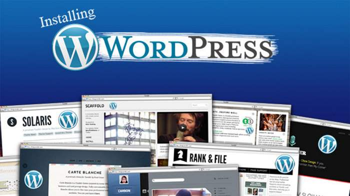 guida installare wordpress