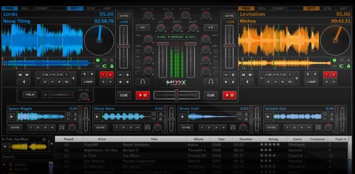 programma x mixare musica