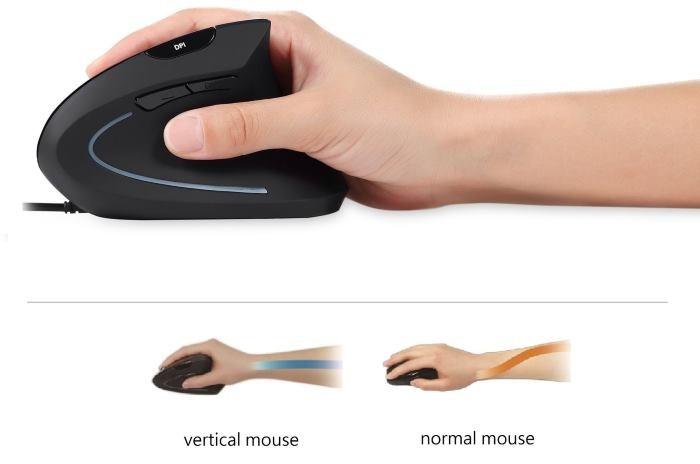 Mouse ergonomico Verticale per evitare Tunnel Carpale Tendinite: impressioni e opinioni
