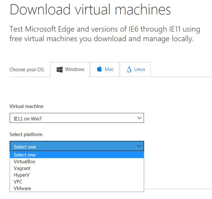 download macchine virtuali