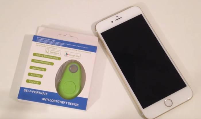 Portachiavi con localizzatore GPS bluetooth, telecomando per asta per Selfie e per registrare audio di nascosto