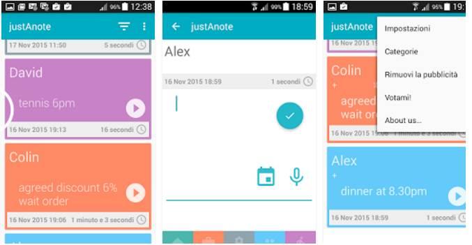 Organizzare il registro delle chiamate su Android con JustAnote
