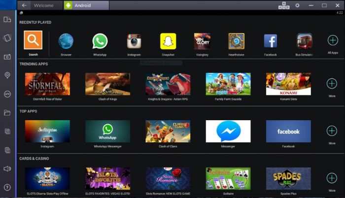 come usare bluestacks