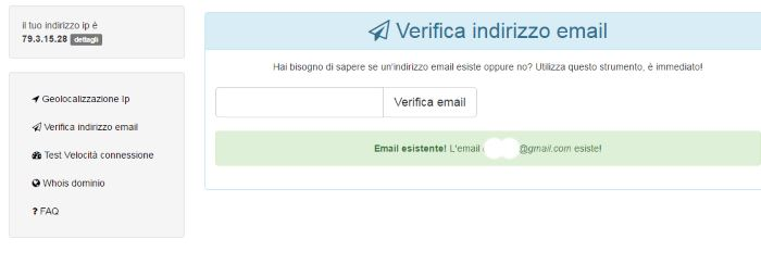controllare indirizzo email