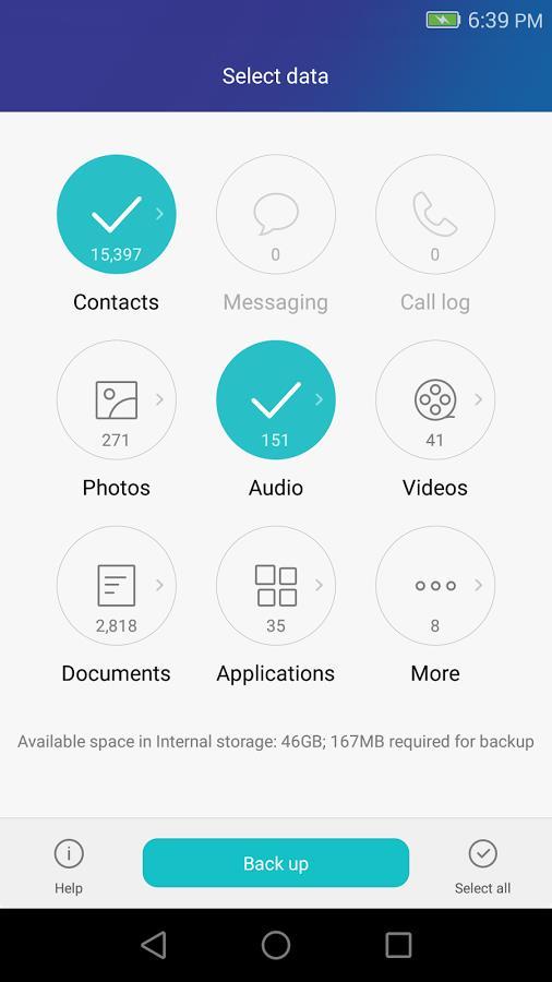 backup foto applicazioni video