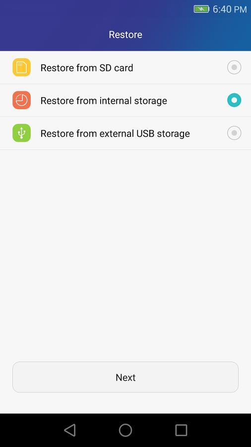 restore backup huawei smartphone