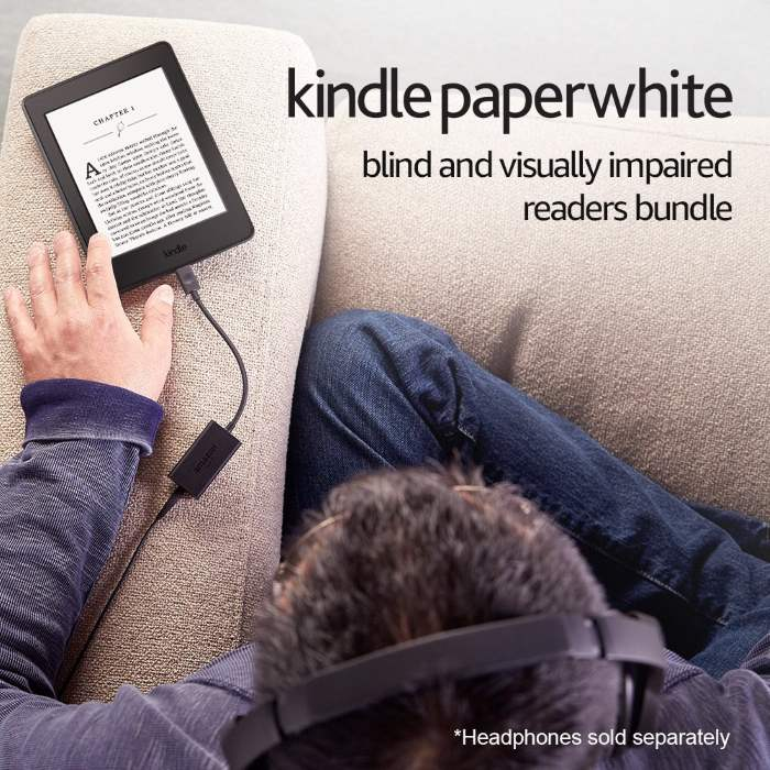 Kindle Paperwhite Blind ebook per non vedenti