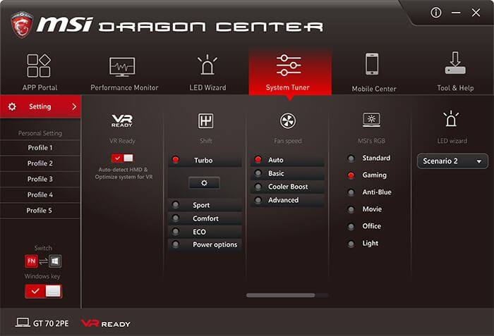 drago center msi