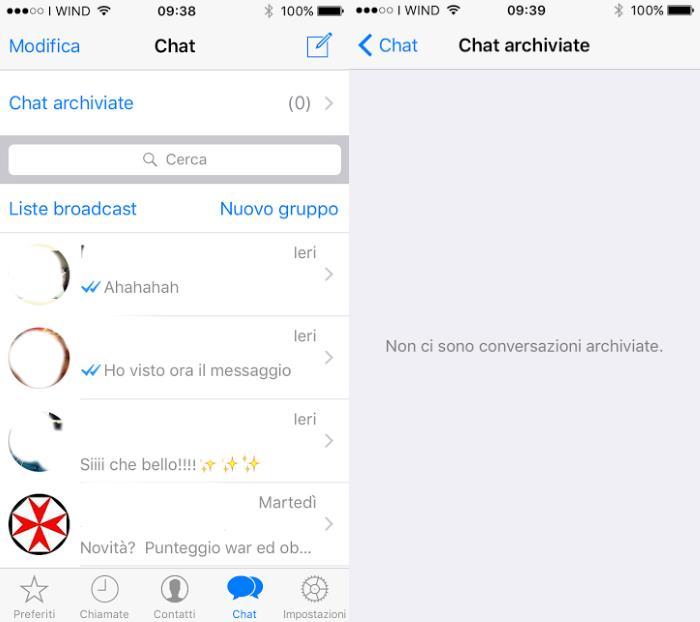 Come nascondere le chat di whatsapp