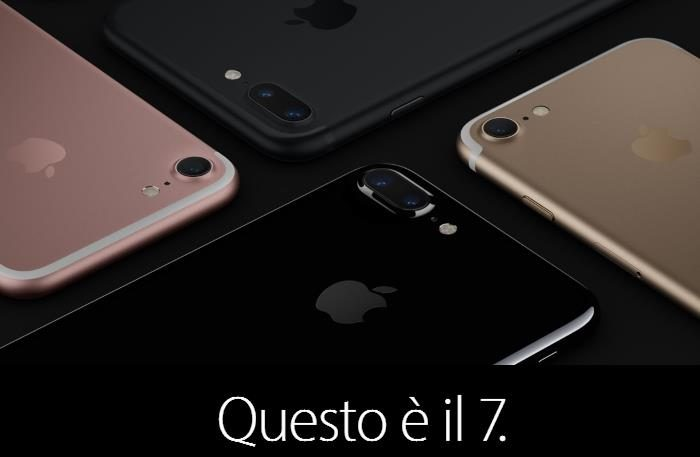 Apple iPhone 7 e 7 Plus: prezzi, caratteristiche tecniche, differenze, novità e disponibilità in Italia