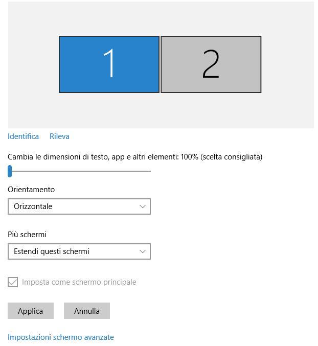Come Cambiare Risoluzione Dimensioni Schermo Pc Windows