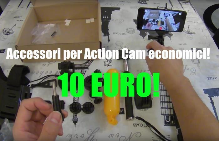 accessori action camera fascia testa economici