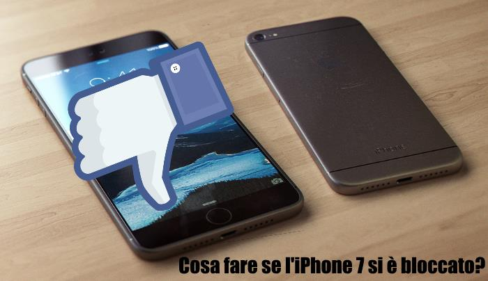 cosa fare se iphone 7 bloccato impallato