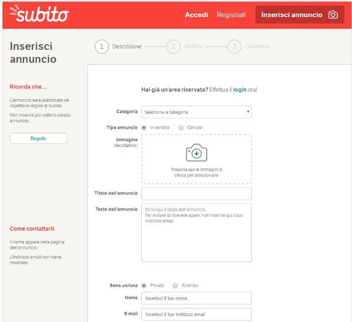 Come inserire un annuncio di vendita su subito.it | Very Tech