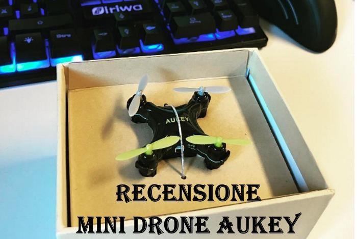 recensione mini drone aukey