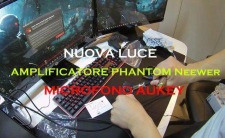 AMPLIFICATORE PHANTOM MICROFONO AUKEY