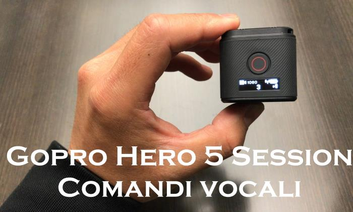 come usare gopro hero 5 session voce