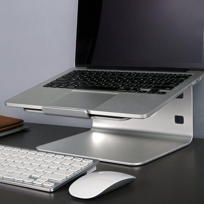 supporto macbook notebook alluminio